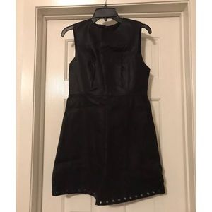 Forever 21 Faux Leather Stud Dress - Medium